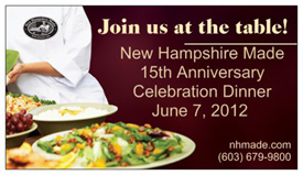 NH Made 15th Anniversary Celebration Dinner June 7 Seacoast Eat Local