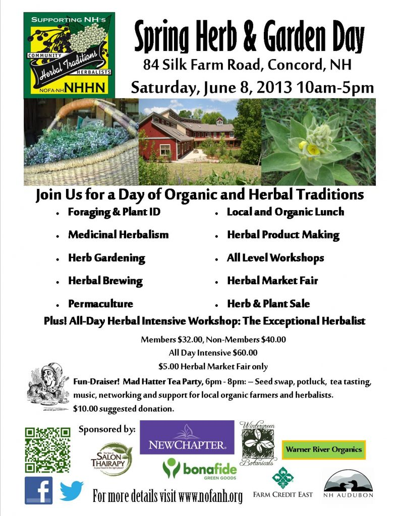 NOFA NH Herbal Network Spring Herb Garden Day June 8 Seacoast Eat Local