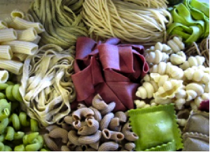 Fresh pastas made with whole grains
