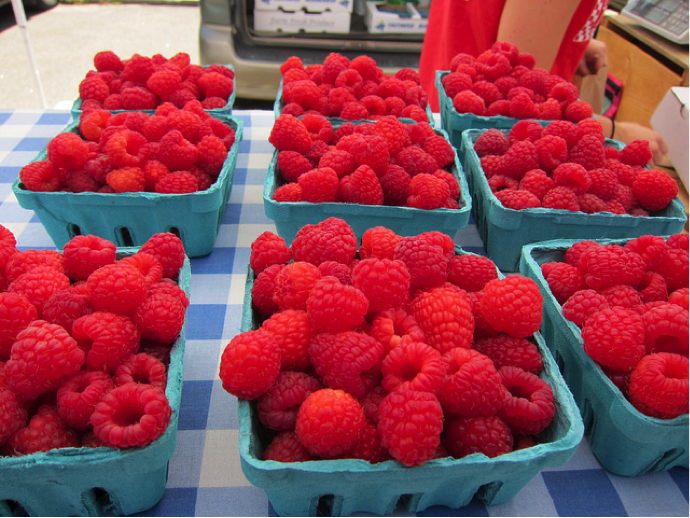 Raspberries, photo by Caitlin Porter