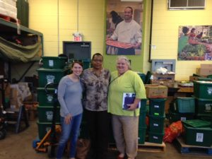 Jill and Celeste with Afua, the coordinator for Food Share's mobile market program